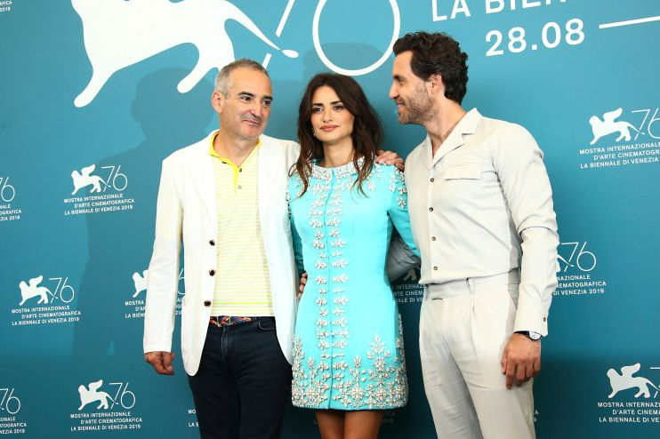 Mandatory Credit: Photo by Joel C Ryan/Invision/AP/Shutterstock (10376623q) Olivier Assayas, Edgar Ramirez, Penelope Cruz. Director Olivier Assayas, from left, actors Penelope Cruz and Edgar Ramirez pose for photographers at the photo call for the film 'Wasp Network' at the 76th edition of the Venice Film Festival in Venice, Italy Film Festival 2019 Wasp Network Photo Call, Venice, Italy - 01 Sep 2019