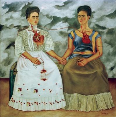 """Kahlo, Frida 1907–1954. """"Die zwei Fridas"""", 1939. Öl auf Leinwand, 173 × 173 cm. Mexico, Museo de Arte Moderno."""