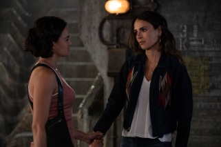 (from left) Letty (Michelle Rodriguez) and Mia (Jordana Brewster) in F9, directed by Justin Lin.